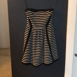 Black and white striped juicy couture dress